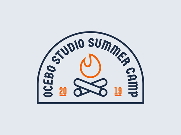 Summer Camp Badge Design