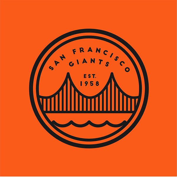 SF Giants logo Badge