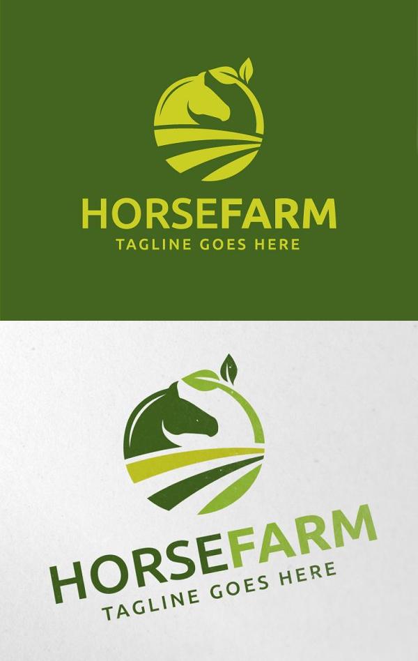 Horse Farm Logo Template