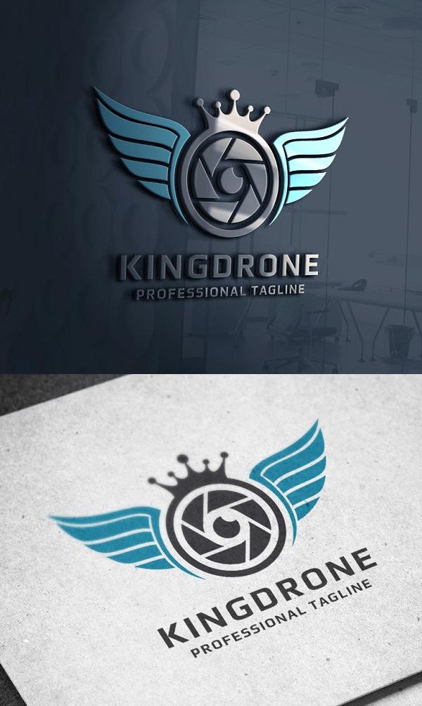 King Drone Logo