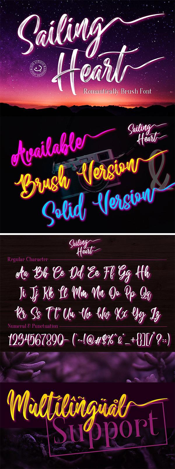 Sailing Heart Script Font