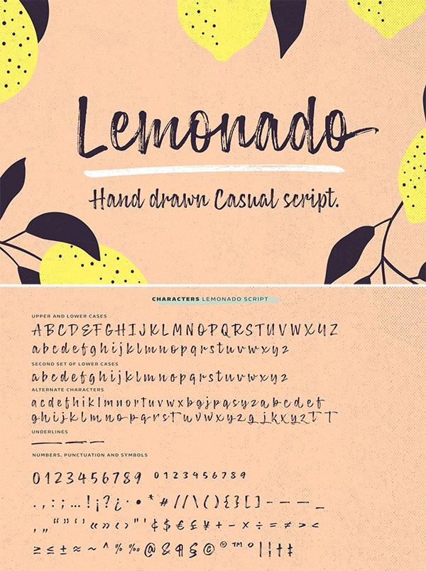 Lemonado Hand Drawn Font