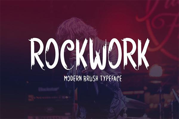 Rockwork Brush Typeface