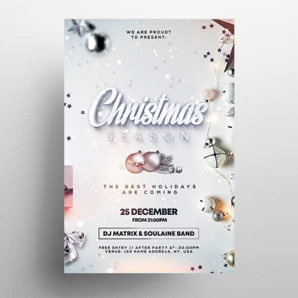 Christmas Season PSD Flyer Template