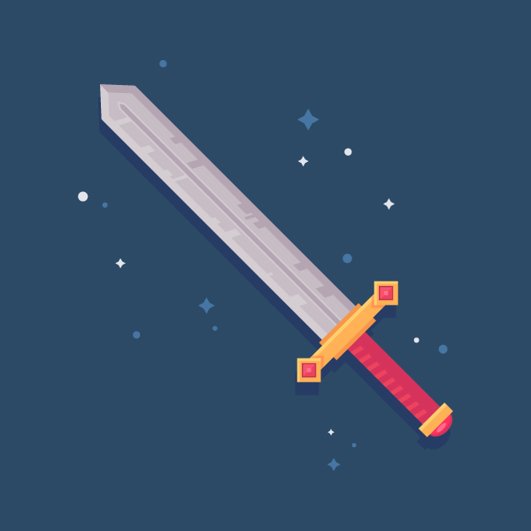How to Draw a Fantasy Sword Icon in Adobe Illustrator