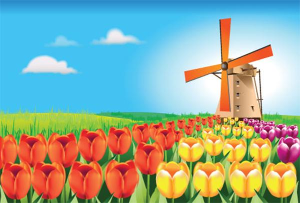 Illustrator Tutorial: Holland Tulip Field