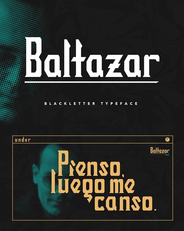 BALTAZAR Blackletter Free Font