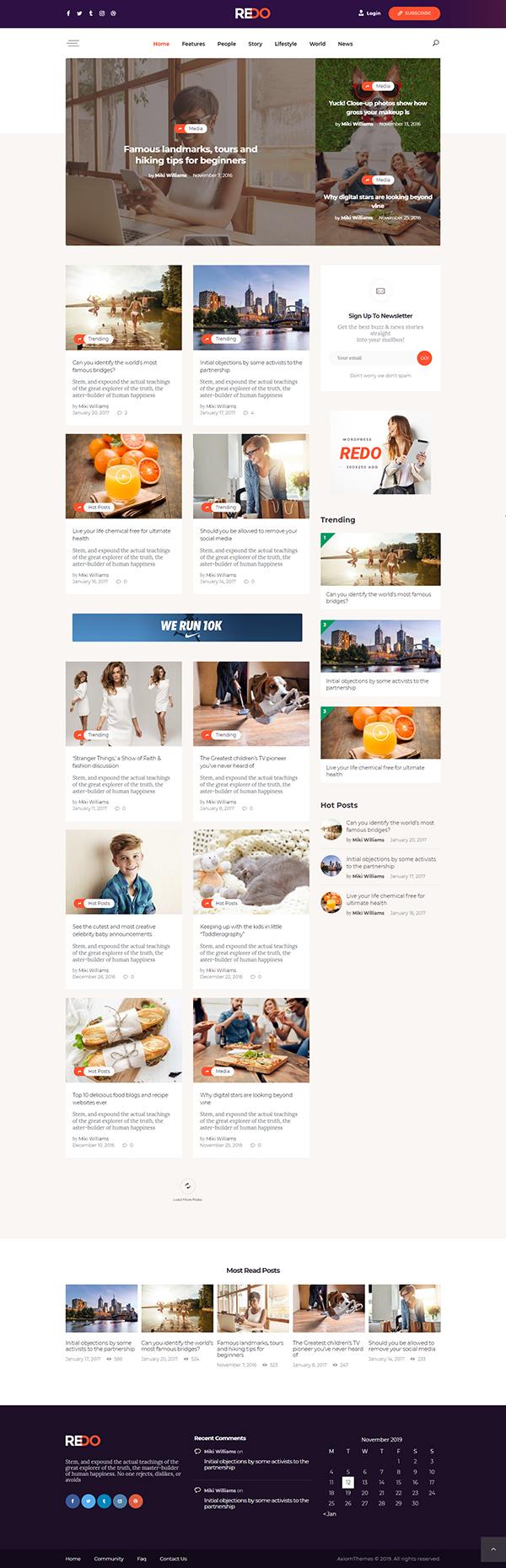 Redo - Personal Blog & Magazine