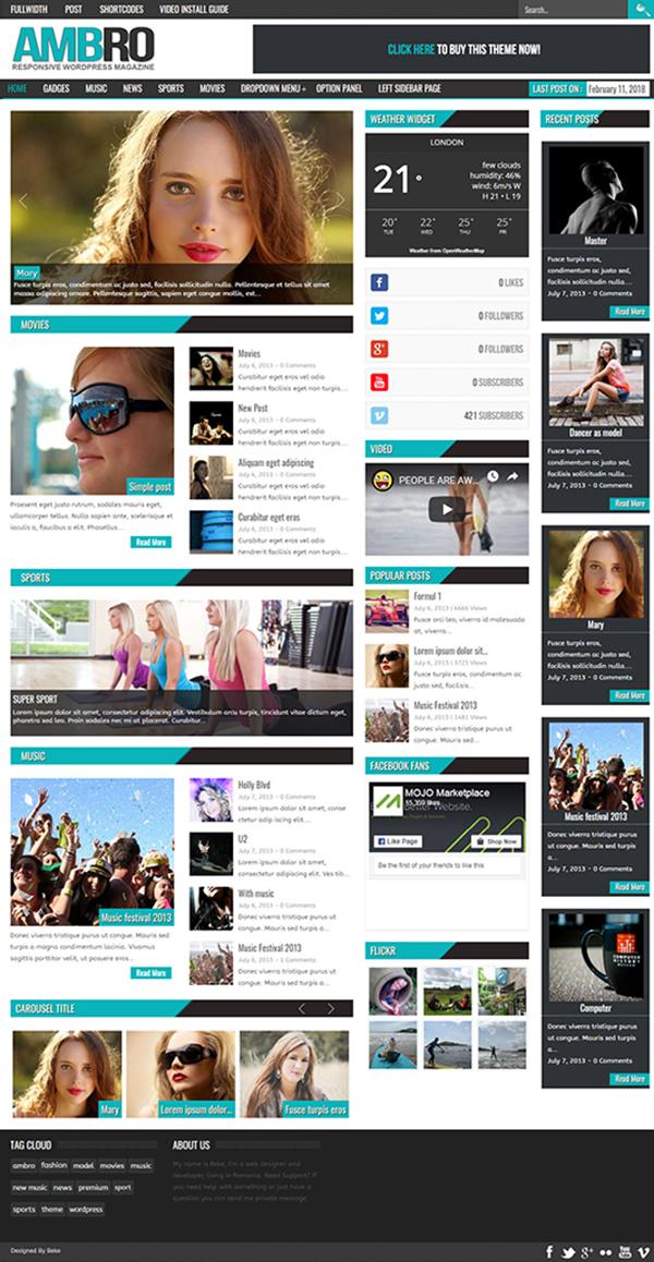 Ambro Magazine WordPress Theme