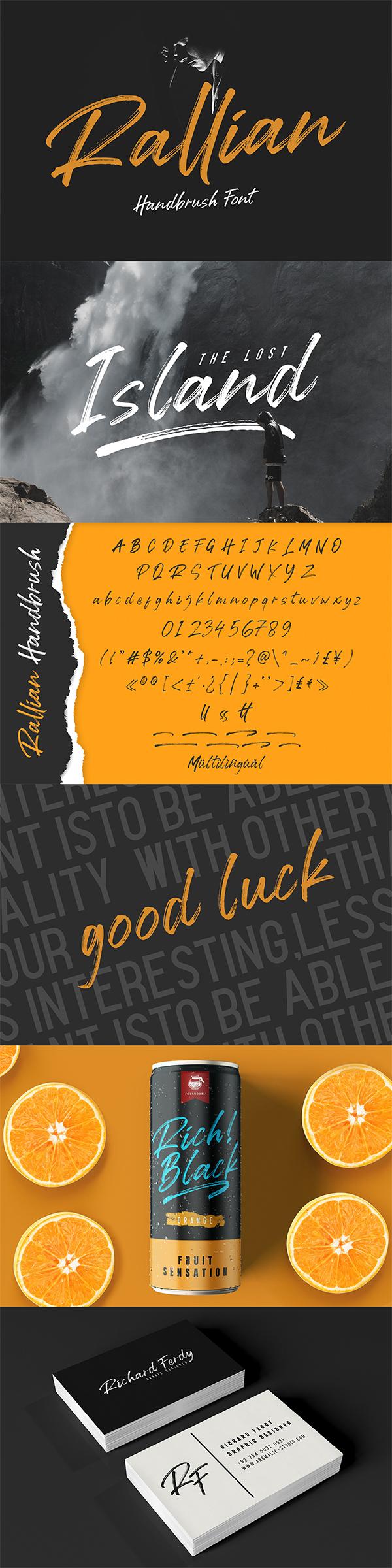 Rallian - Handbrush Font