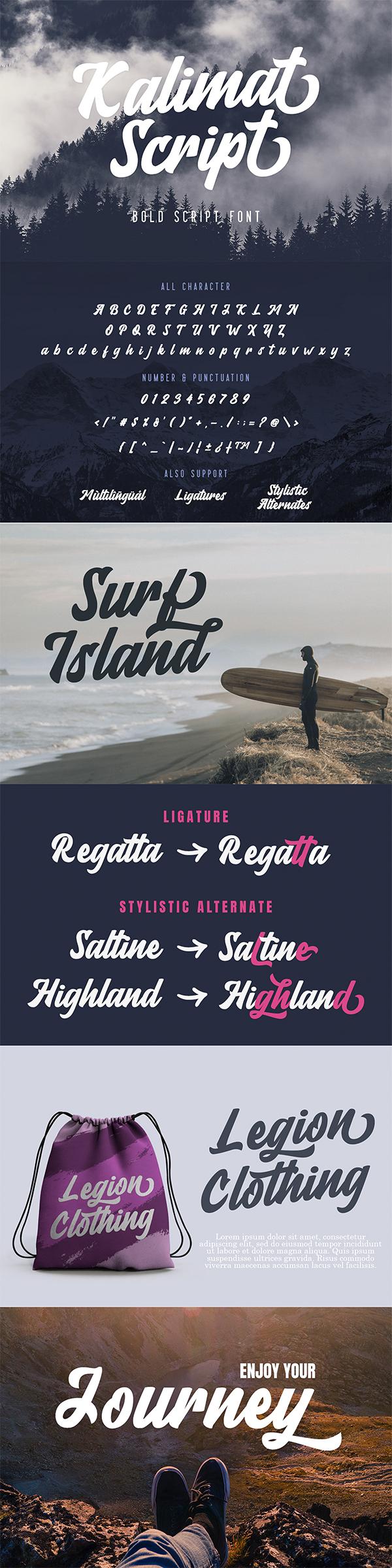 Kalimat Script - Bold Script Font