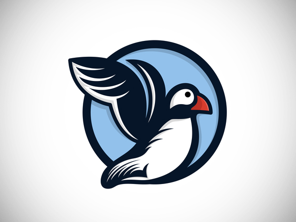 Puffin Bird Logo Design
