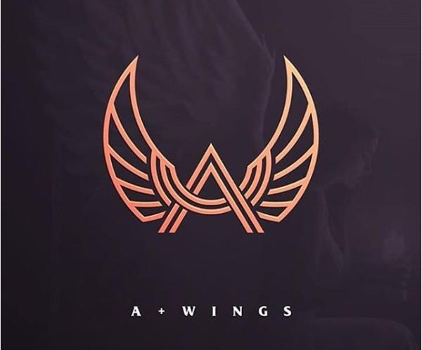 A + Wings Logo Design