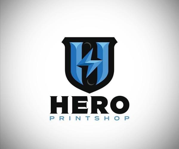 Hero Printshop Logo Design
