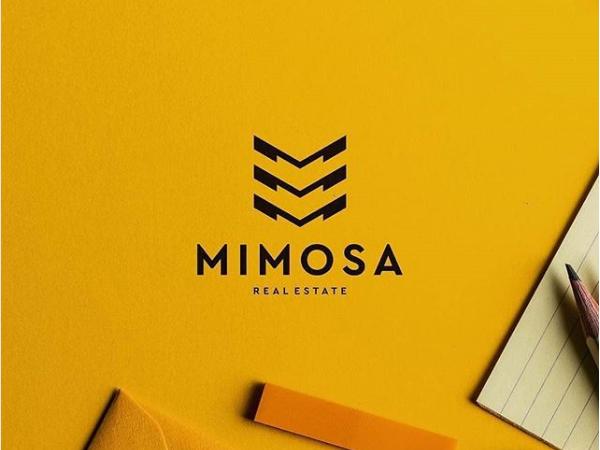 Mimosa Real Estate Logo Design