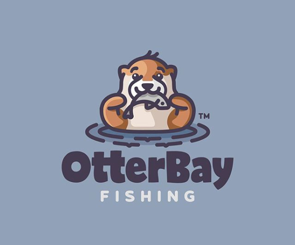OtterBay Fishing Logo Design