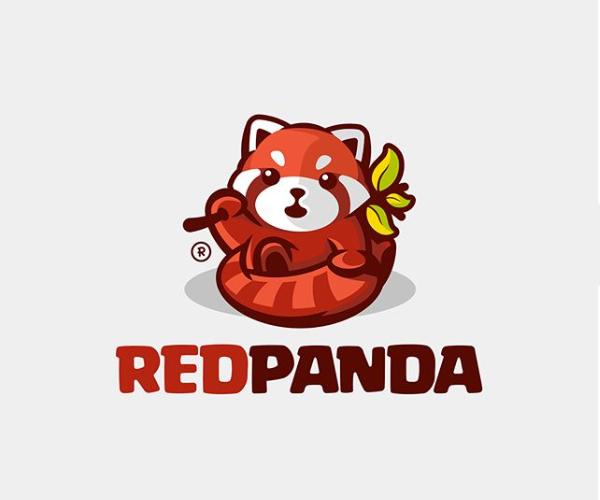 Red Panda Logo Design
