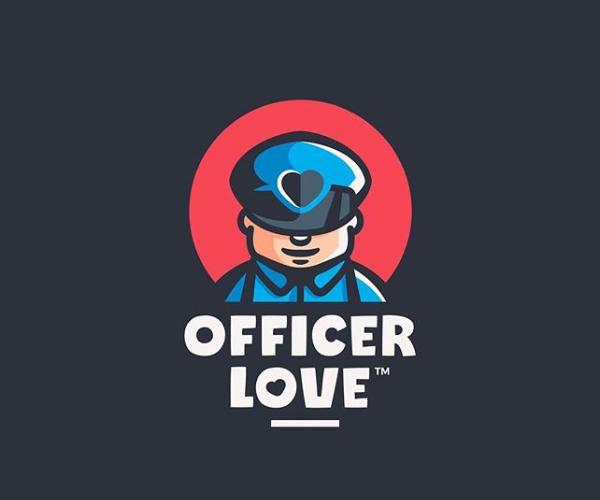 Officer Love Logo Design