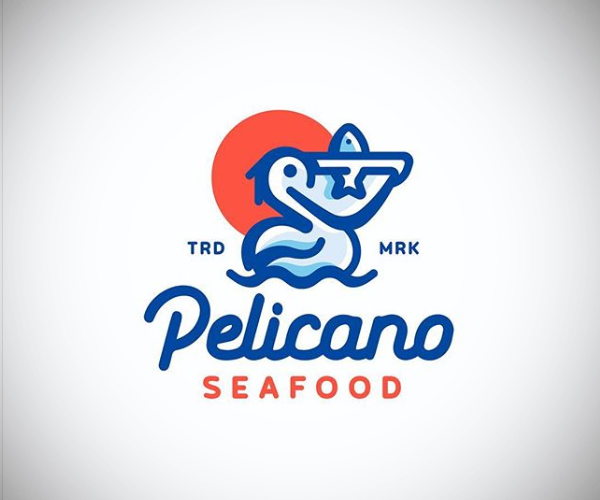Pelicano Seafood Logo Design