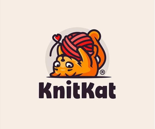 KnitKat Logo Design