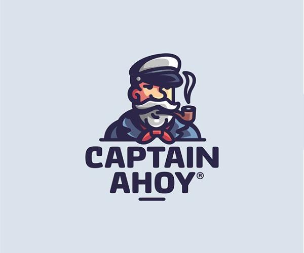 Captain Ahoy Logo Design