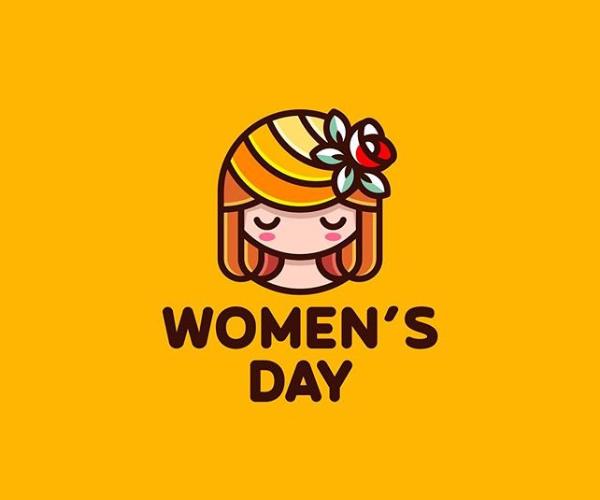 Happy Women's Day Logo Design