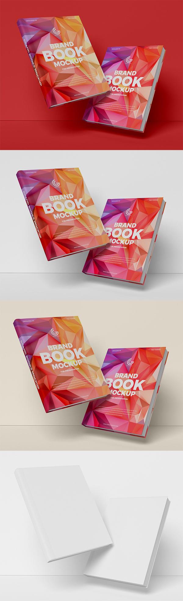 Free Download Creative Brand Books PSD Mockup (2019)