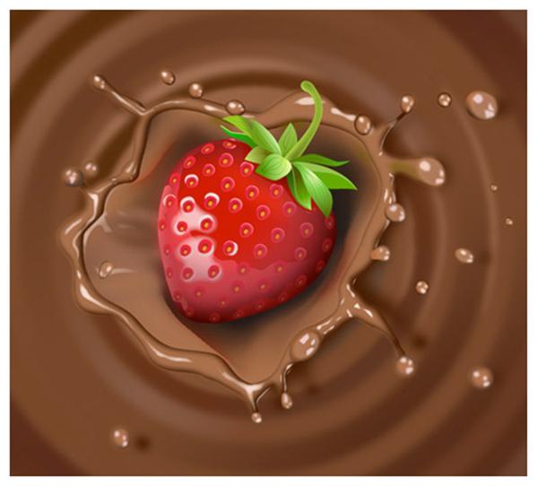 Strawberry & Chocolate Milk Splash