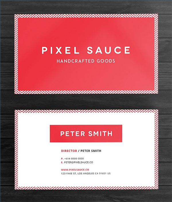 Red Simple Business Card Template