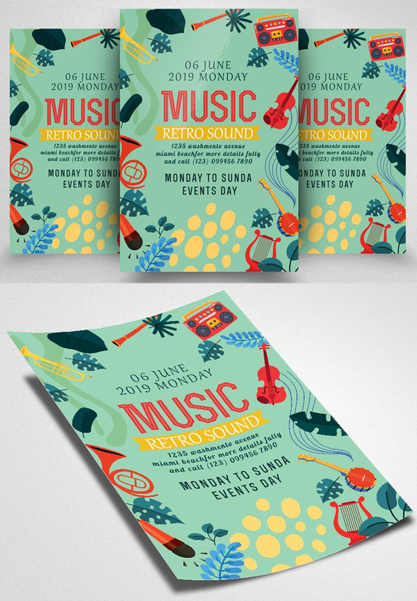 Musical Festival Flyer Template