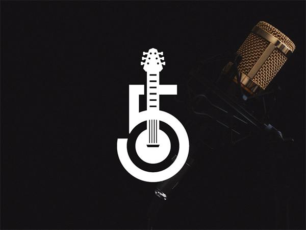 Guitar Records Logo Design