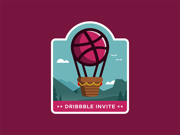 Dribbble Invite Logo Design