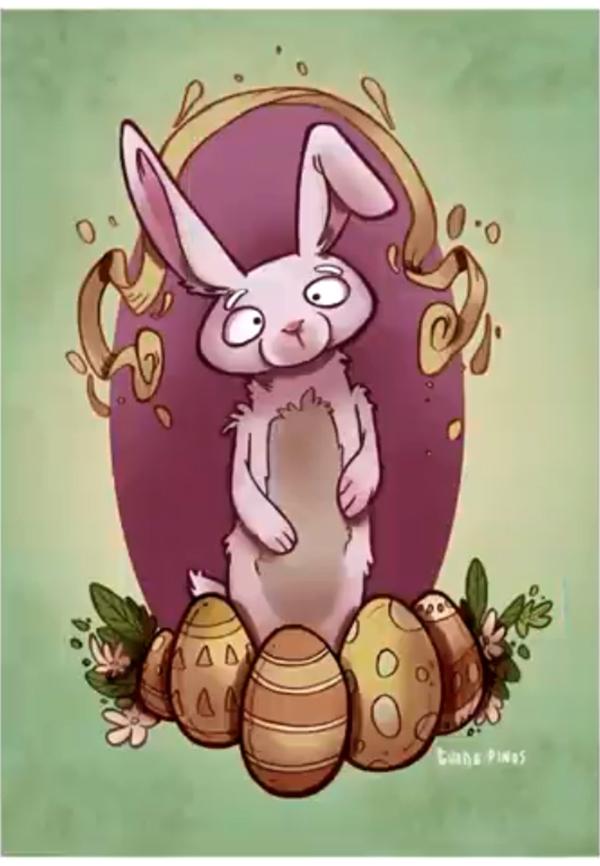 Illustration: Design an Easter Postcard