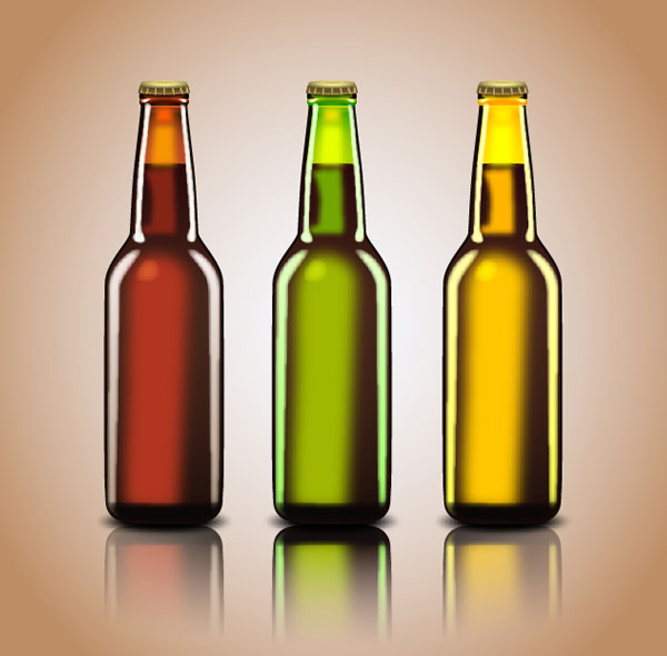 How to create Beer Bottles Tutorial