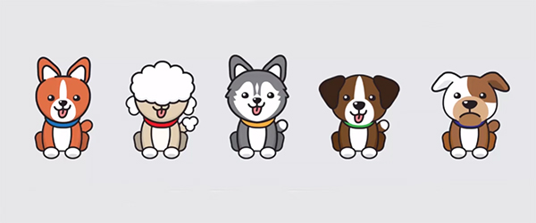 Illustration: Create Flat Puppies