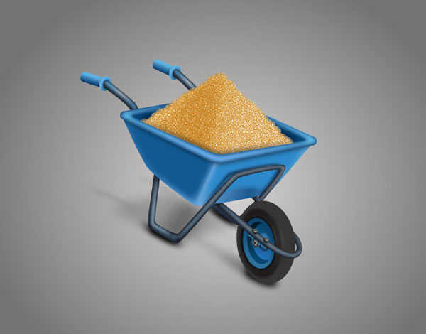 Learn how to create a Wheelbarrow Full of Sand