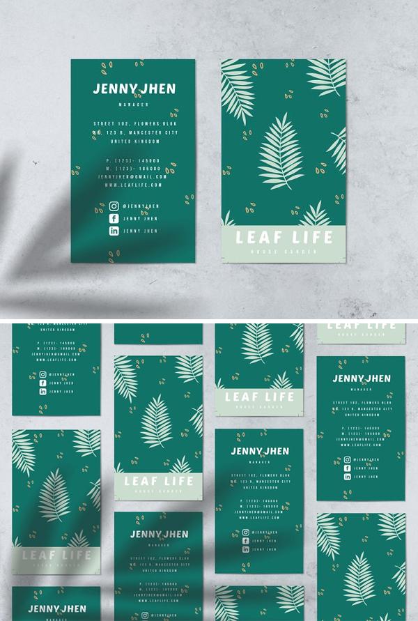 Leaf Life Business Cards