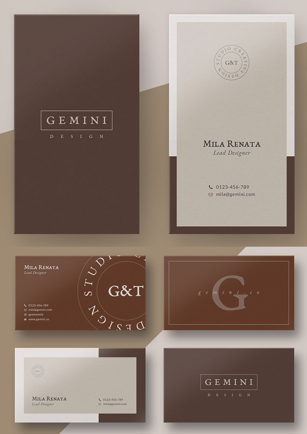 Gemini Business Card Templates