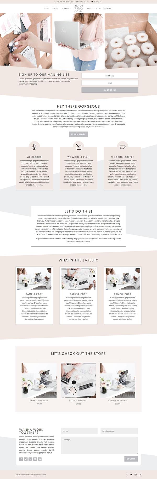 The Lola-Divi Child WordPress Theme
