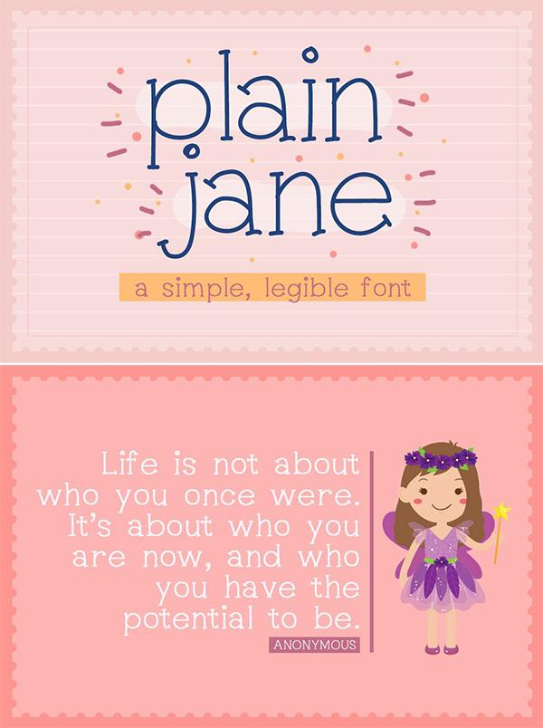 Plain Jane Free Font