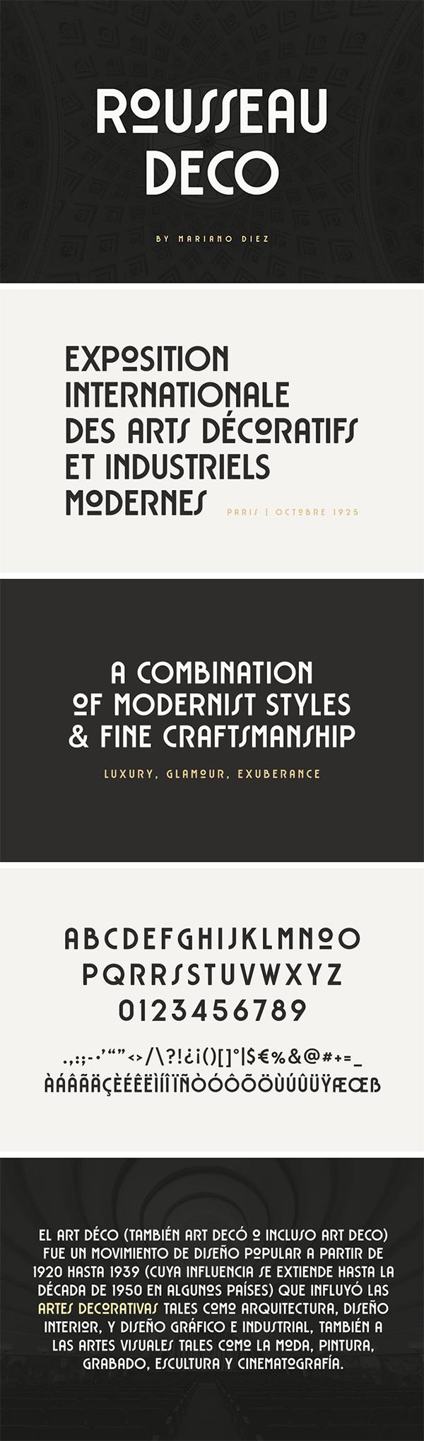 Rousseau Art Deco Free Font