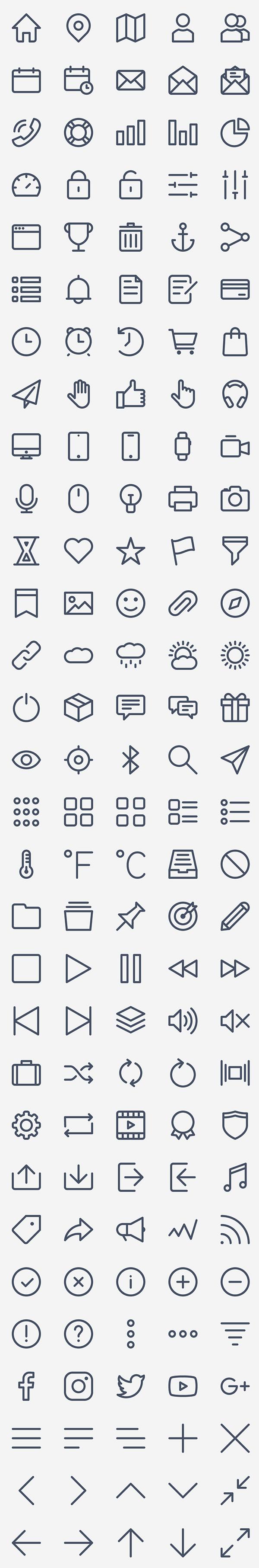 Free Basic Icon Set