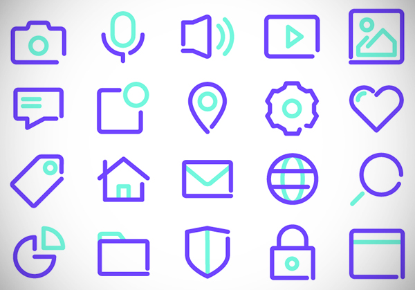 Free Thick Outlines Icons