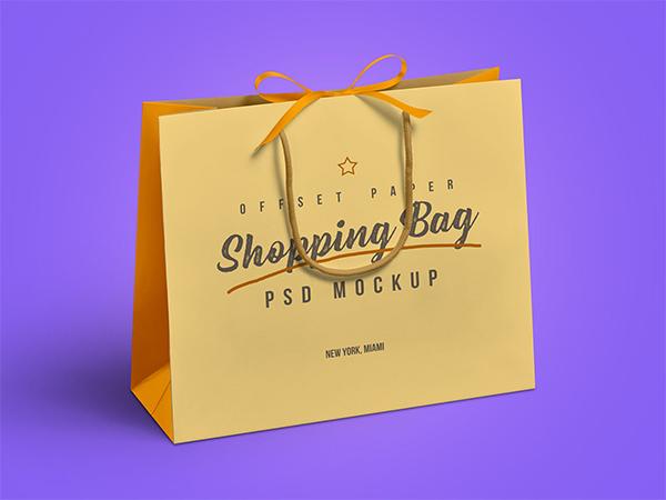Free Grocery Shopping Bag Mockup PSD