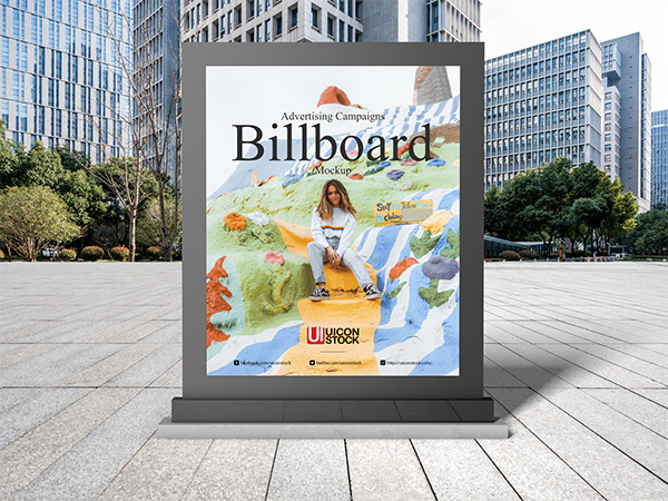Free Advertising Campaigns Billboard Mockup