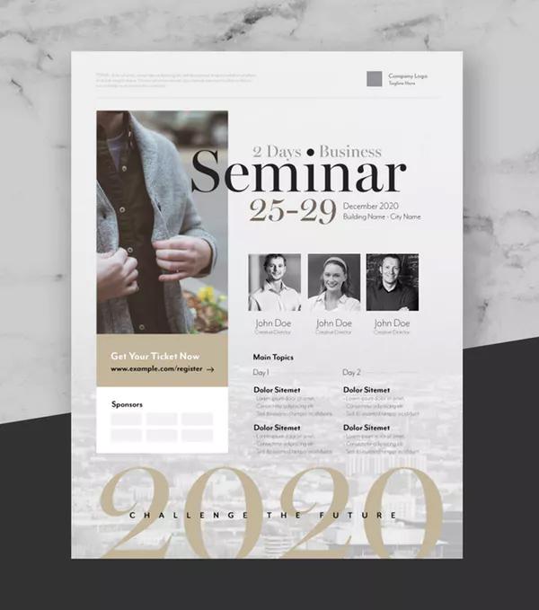 Elegant Business Event Flyer