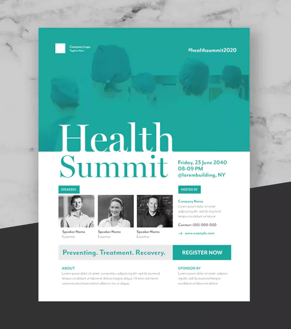 Health Summit Event Flyer Poster