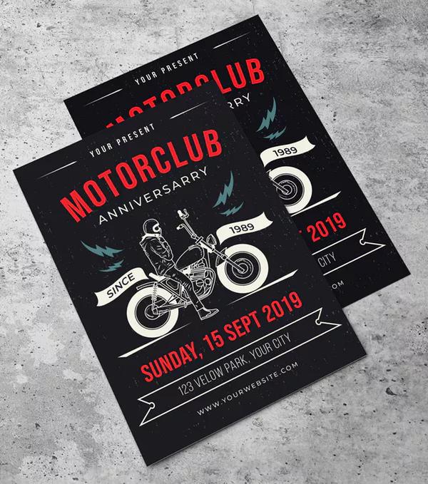 Motorclub Event Flyer