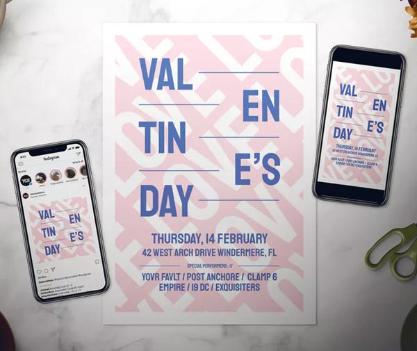 Modern Valentine's Day Flyer Set