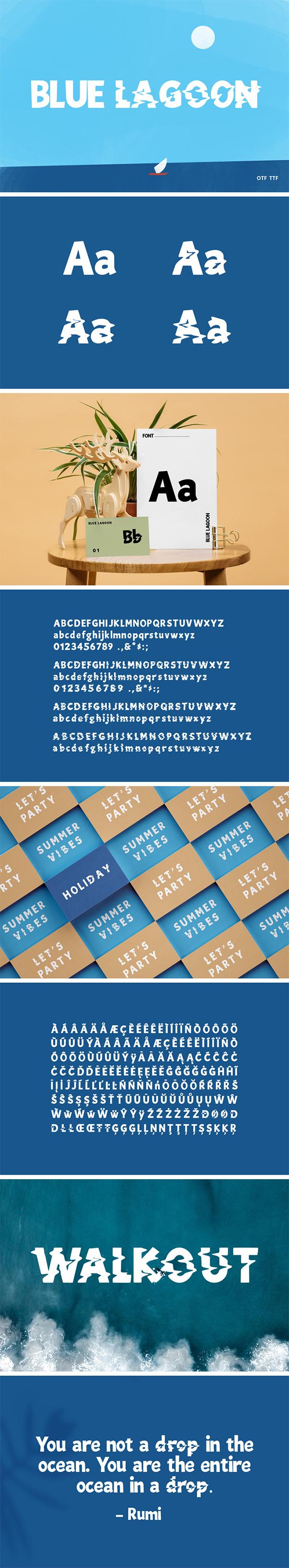 Blue Lagoon Decorative Font